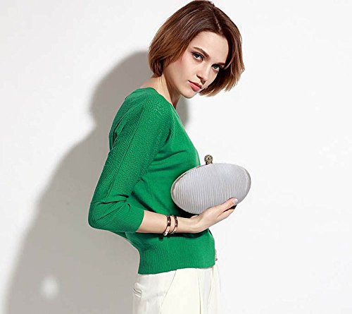 Women Pleated Ivory New 1 Clutch Luxury Ladies Bag Design Evening Box Design Hardcase Designer Handbag Look Y4qAPqxw