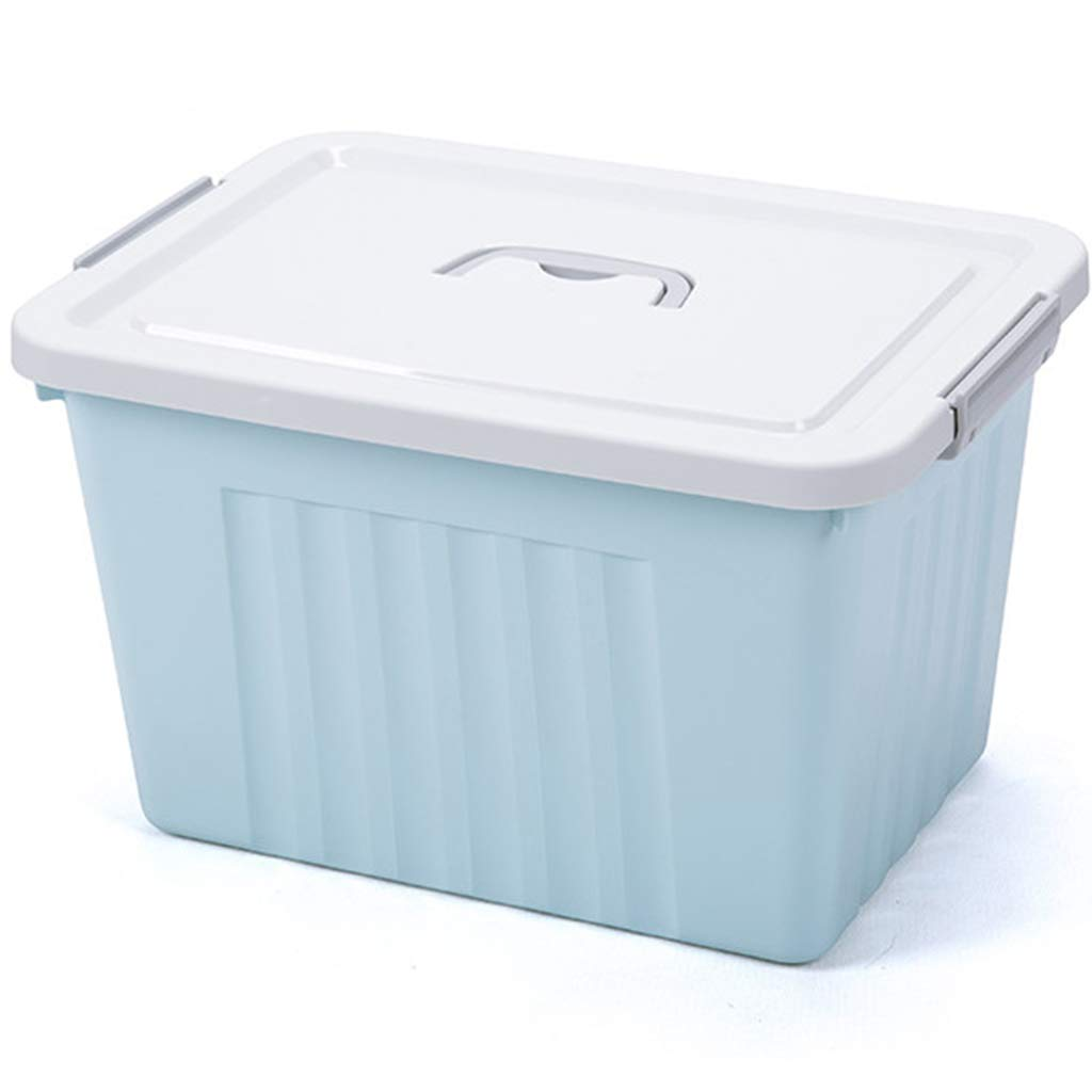 ZXPYZ Multi-Functional Large-Capacity Storage Box. Small Storage Box. PP Material. Suitable for Rooms, Etc. - Medium - Nordic Blue