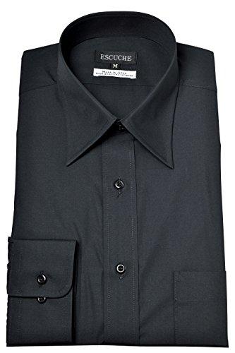 マウントバンクセンチメートルセンチメートル[オジエ] ozie【ワイシャツ?カッターシャツ】レギュラーフィット?形態安定 レギュラーカラー ドレスシャツ?日本製 ブラック黒