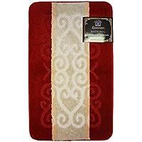 Luxury Home Fashion Bathroom Rug, Elegant Modern Design Bathroom Rug, Anti-slip Backing (30 X 50 (#019), Burgundy)