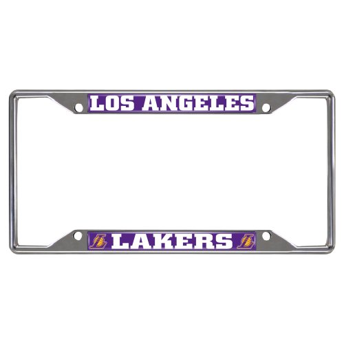 lakers license plate frame chrome - 1