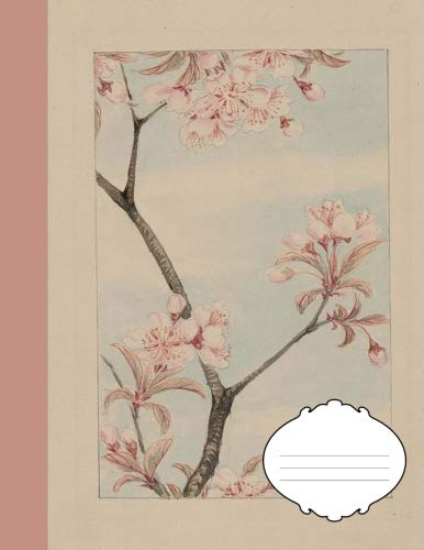 Japanese Genkouyoushi Paper Composition Notebook for Writing Practice: Kana & Kanji Characters: Writing Book for Study of Japanese Language Composition Book (Sakura Cherry Blossom Flowers)