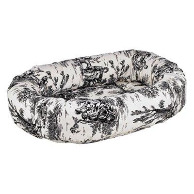 (Onyx Toile Microvelvet Donut Bed (LARGE))
