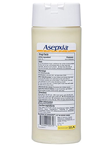 Amazon.com: Asepxia Shower Gel Acne Blackhead Pimple Treatment with 2% Sulfur, 8.5 Fluid Ounce: Beauty