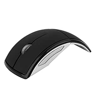 Mouse MY-ZD01-VD 2.4ghz Wireless Foldable Arc Optical Mouse for Windows and Mac OS (Black)