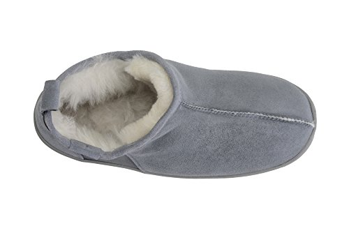 Mens Wool Sheepskin Lined B004 Genuine Grey White Boot Luxury Ankle Fully Leather Slippers rqETwr1XA