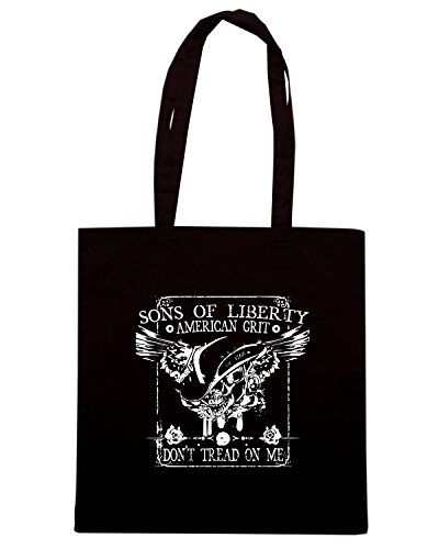 T-Shirtshock - Bolsa para la compra TM0639 dont tread on me american grit Negro