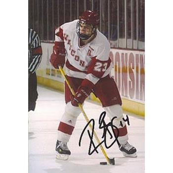 Signed Rene Bourque Photograph - Wisconsin Badgers 4x6 - Autographed NHL Photos