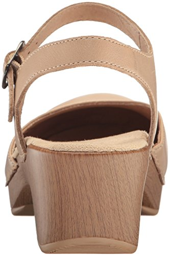 Dansko Sand Full Grain Dollar Strap Sam Women's Clog Ankle XqfrBwX
