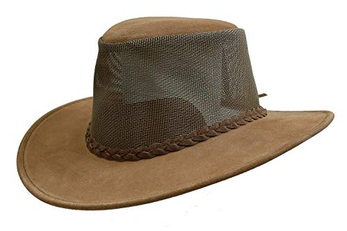 (Ventilating Mesh Hat Bendigo- Made in Australia KTA Brown)