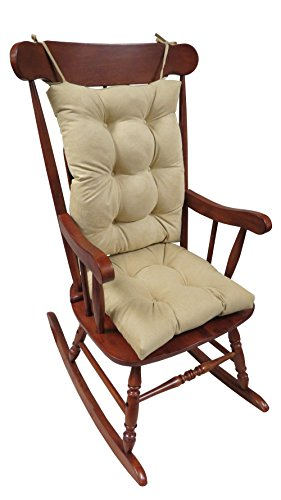 Klear Vu The Gripper Non-Slip Rocking Chair Cushion Set Honeycomb, Natural