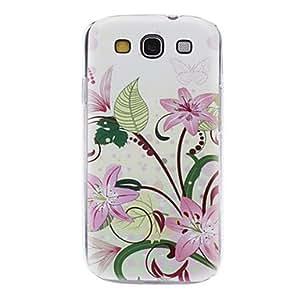 conseguir Lily Pink Caso duro del patrón Flores para Samsung Galaxy S3 I9300