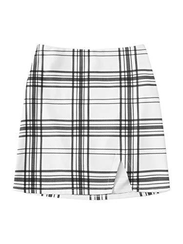 Verdusa Women's Split Hem Bodycon Short Mini Skirt