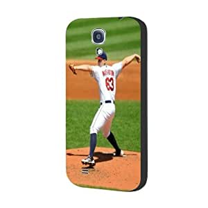 MLB Theme Cleveland Indians Cool Sports Samsung Galaxy s4 I9500 Case With MLB Teams NO.63 Guys Justin Masterson Phone Case for Guys