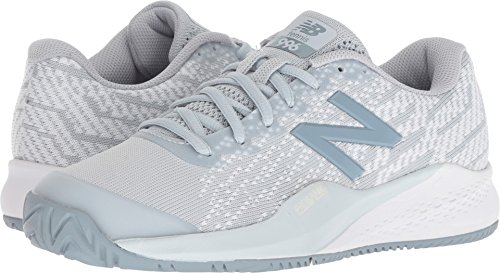 New Balance Women's 996v3 Hard Court Tennis Shoe, Grey, 6 B US