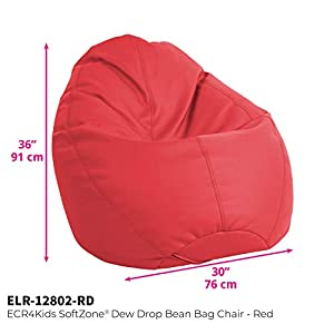 ECR4Kids Dew Drop Bean Bag for Kids, Multiple Colors