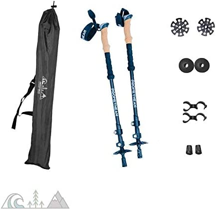 Fulcrums Trekking Poles Perfect for Hiking, Trekking, Walking, Skiing, Snowshoeing, Setting up Tarps Ultralight Tents. Lightweight Aluminium Shaft, Cork Grip, Adjustable, Multi-Purpose Design