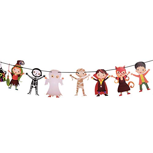 HIKO23 Halloween Wall Decor, Happy Halloween Party Flag Household Children Room Decoration Terror Supplies -