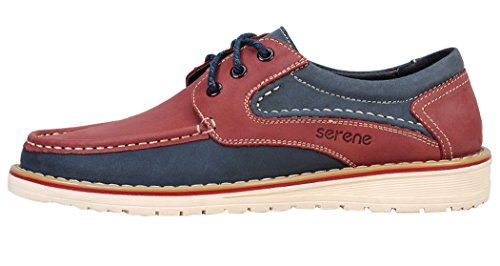 Serene Christmas Mens School Trendy Colored Fashion Sneakers(9 D(M)US, Claret)