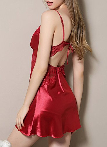 ACHICGIRL - Camisón - relaxed - para mujer granate
