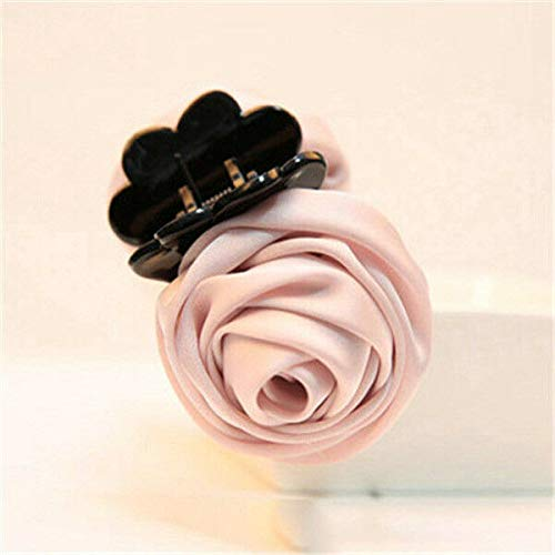 (Women Vogue Rose Flower Hair Clip Claw Comb Hairpin Clamp Accessory Headwear New (Colors - Pink))