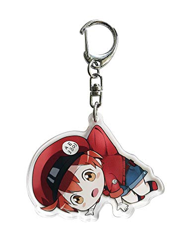 Mobile Collection Body Charm Phone - Cells at Work! Anime Acrylic Keychain (Red Blood Cell A)