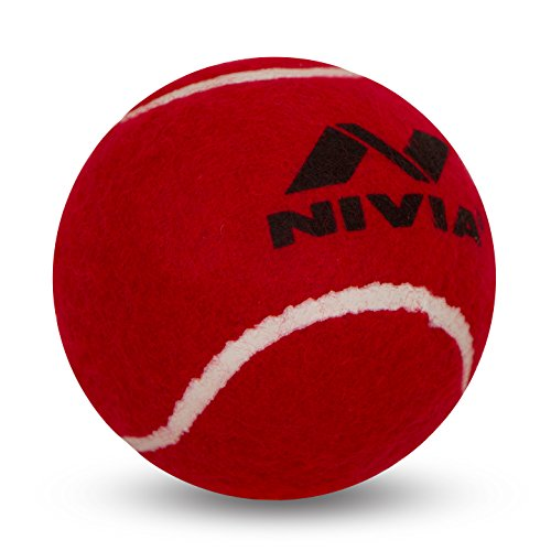 (Nivia Heavy Tennis Ball Cricket Ball (Pack of 6), Red)