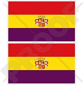 Spain 2nd spanish republic state flag 4 100mm vinyl bumper stickers decals
