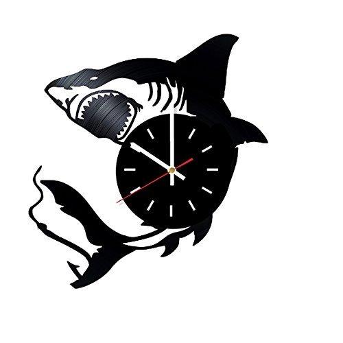 Amazon Com Shark Wild Fish Handmade Vinyl Record Wall Clock Home Room Or Bedroom Wall Decor Gift Ideas For Teens Siblings Boys Unique Art Design Baby