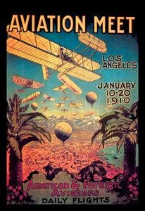 Paper poster printed on 20 x 30 stock. Aviation Meet in Los Angeles