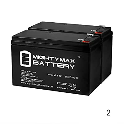 12V 8Ah Battery for Peak PKC0J6 600 AMP Jump Starter - 2 Pack - Mighty Max Battery brand product
