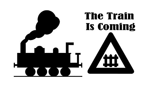 - This Kids Train wall decal displays 'The Train is Coming'. Ideal for any kids room. Place them individually wherever you want. This sticker will give you a Tank Engine feel on any wall. - WHITE