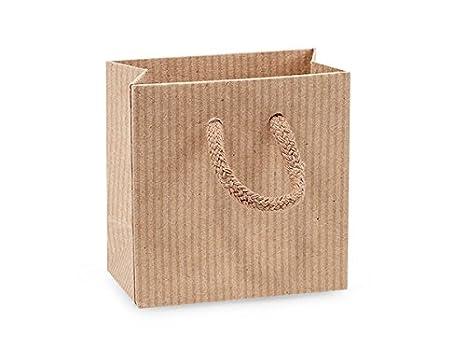 Petite de rayas negras papel Kraft bolsas de regalo (10 ...