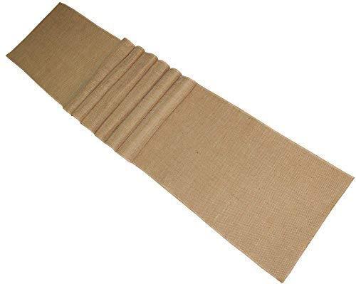 Cotton Craft - 2 Pack - Jute Burlap Table Runner - 12 in. x 108 in. Each - 6 Yards Total - Rustic Hessian - Overlocked Edges - For Weddings, Home Décor & Crafts -