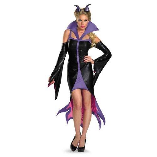 Disguise Women's Disney Sleeping Beauty Maleficent Sassy Costume, Purple/Black, Medium