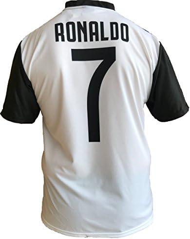 JUVE Camiseta de Fútbol Cristiano Ronaldo 7 CR7 Juventus F.C. Home ...