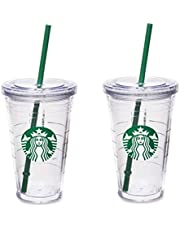 Starbucks Grande Insulated Travel Tumbler 16 OZ Double Wall Acrylic 2 Pack Set