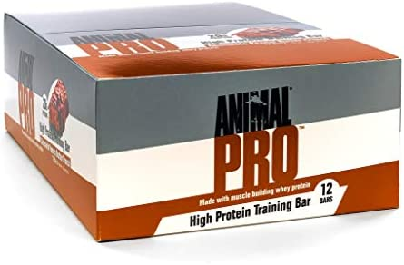 Animal Pro Protein bar – Great Tasting – 11g Fat – 19g Carbs – 20g Protein – Pre Post Workout Fuel, Peanut Butter Crunch, 12Count