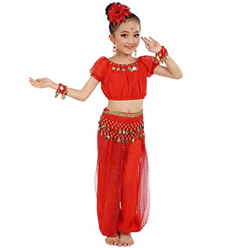 Maylong Girls Coined Harem Pants Belly Dance Outfit