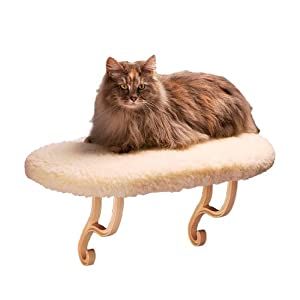 """K&H Pet Products Thermo-Kitty Sill Heated Pet Bed Fleece 14"""" x 24"""" 6W"""