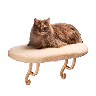 K&H Pet Products Thermo-Kitty Sill Heated Cat Bed, Fleece, 6W