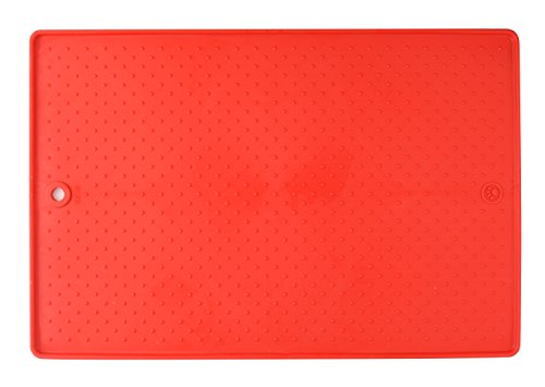 Dexas  Grippmat for Pet Bowls, 13 by 19 inches, Red