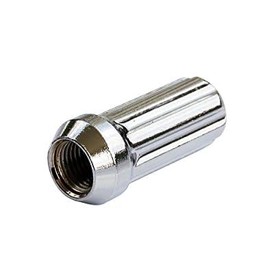 GDSMOTU M14x1.5 Spline Chrome Lug Nuts, 24pc 7-Spline Bulge Steel 14x1.5 Wheel Lug Nuts for 5 6 Lugs Chevy GMC Toyota Ram(2