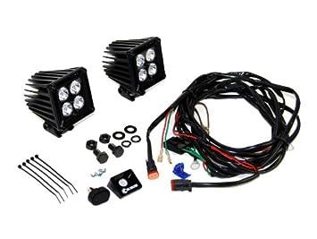 amazon com kc hilites 310 kc cube series 20w led spot light kc hilites 310 kc cube series 20w led spot light harness pair