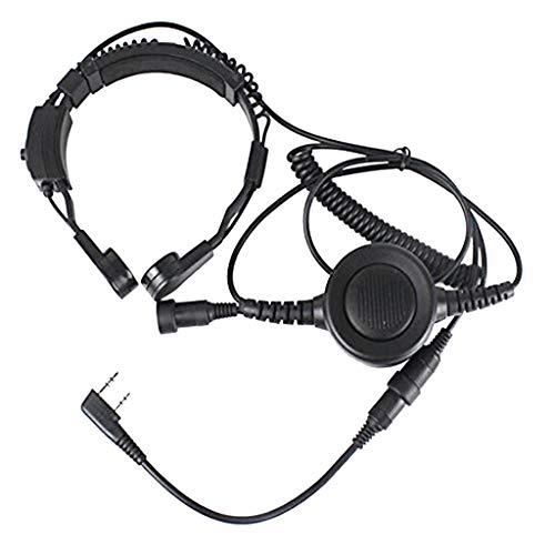 [해외]KESOTO 켄 우드 라디오 TK-32063207 UV-5R 용 핑거 PTT 된 슬로우 마이크 헤드셋 다기능 / Kesoto Kenwood Radio TK-32063207 uv-5r finger PTT with throat microphone headset Multifunction