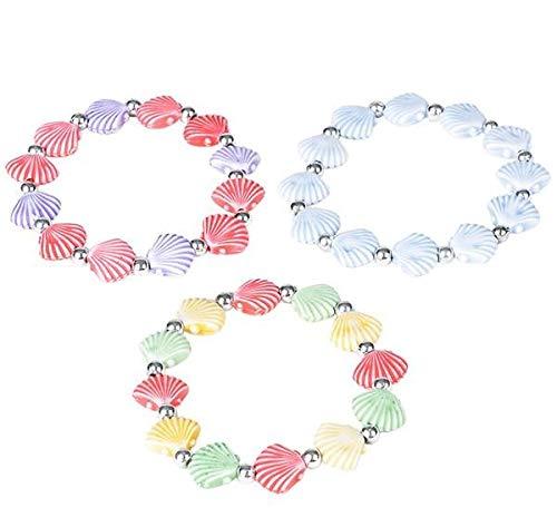 - Rhode Island Novelty Faux Seashell Bracelets   Set of 12  
