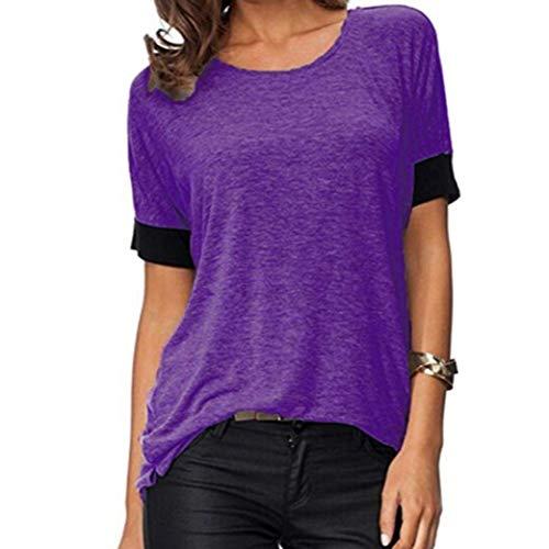Uni Tshirt Haut Schwarz De Courtes Femme Slim lgant Col Mode Casual Shirt Haute Fille Manches Rond Shirt Tee Classique T Tops Et Qualit Fit Manche vqwp6InC
