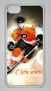 CLAUDE GIROUX Custom PC Transparent Case for iPhone 5C by icasepersonalized