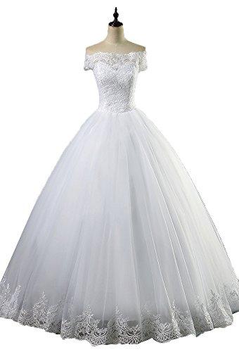 Boat Neck Bohemian Wedding Dress For Women OkayBridal Short Sleeve Lace Up Lace Dress by OkayBridal