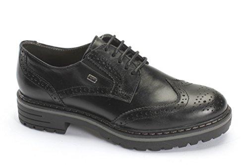 Negro De Valleverde Cordones Zapatos Mujer Para X15Uq1